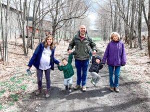 Catskill scenic trail in new york